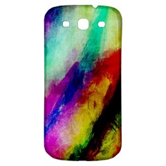 Colorful Abstract Paint Splats Background Samsung Galaxy S3 S Iii Classic Hardshell Back Case by Nexatart