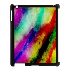 Colorful Abstract Paint Splats Background Apple Ipad 3/4 Case (black)