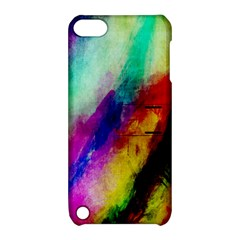 Colorful Abstract Paint Splats Background Apple Ipod Touch 5 Hardshell Case With Stand