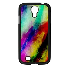 Colorful Abstract Paint Splats Background Samsung Galaxy S4 I9500/ I9505 Case (black) by Nexatart