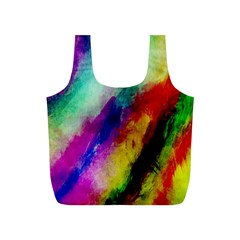 Colorful Abstract Paint Splats Background Full Print Recycle Bags (s)