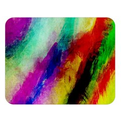 Colorful Abstract Paint Splats Background Double Sided Flano Blanket (large)  by Nexatart