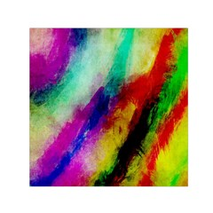 Colorful Abstract Paint Splats Background Small Satin Scarf (square) by Nexatart