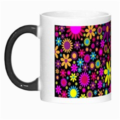 Bright And Busy Floral Wallpaper Background Morph Mugs