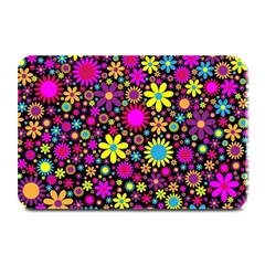 Bright And Busy Floral Wallpaper Background Plate Mats by Nexatart