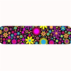 Bright And Busy Floral Wallpaper Background Large Bar Mats by Nexatart