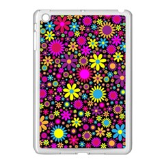 Bright And Busy Floral Wallpaper Background Apple Ipad Mini Case (white) by Nexatart