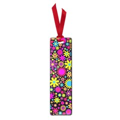 Bright And Busy Floral Wallpaper Background Small Book Marks by Nexatart