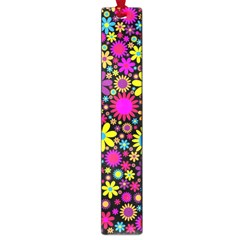 Bright And Busy Floral Wallpaper Background Large Book Marks by Nexatart