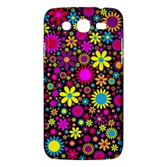 Bright And Busy Floral Wallpaper Background Samsung Galaxy Mega 5 8 I9152 Hardshell Case  by Nexatart