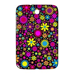 Bright And Busy Floral Wallpaper Background Samsung Galaxy Note 8 0 N5100 Hardshell Case  by Nexatart