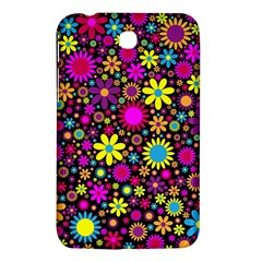 Bright And Busy Floral Wallpaper Background Samsung Galaxy Tab 3 (7 ) P3200 Hardshell Case  by Nexatart
