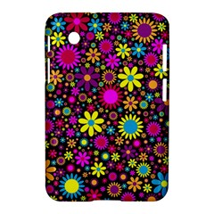 Bright And Busy Floral Wallpaper Background Samsung Galaxy Tab 2 (7 ) P3100 Hardshell Case