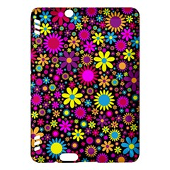 Bright And Busy Floral Wallpaper Background Kindle Fire Hdx Hardshell Case