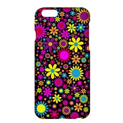 Bright And Busy Floral Wallpaper Background Apple Iphone 6 Plus/6s Plus Hardshell Case