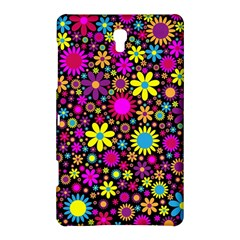 Bright And Busy Floral Wallpaper Background Samsung Galaxy Tab S (8 4 ) Hardshell Case