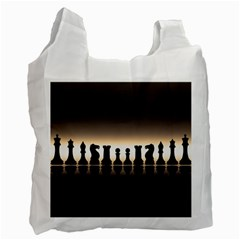 Chess Pieces Recycle Bag (one Side) by Valentinaart