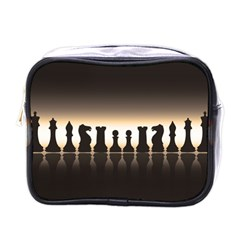 Chess Pieces Mini Toiletries Bags by Valentinaart