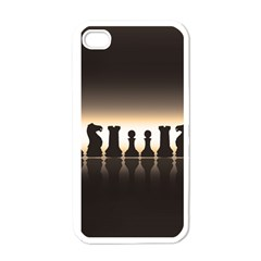 Chess Pieces Apple Iphone 4 Case (white) by Valentinaart
