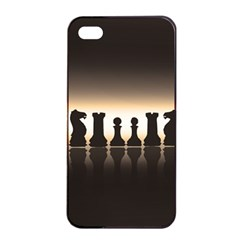 Chess Pieces Apple Iphone 4/4s Seamless Case (black) by Valentinaart