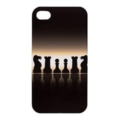 Chess Pieces Apple Iphone 4/4s Premium Hardshell Case by Valentinaart