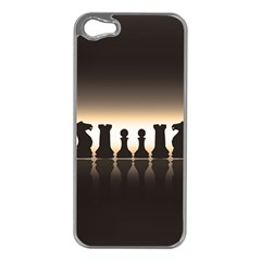 Chess Pieces Apple Iphone 5 Case (silver) by Valentinaart