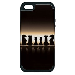 Chess Pieces Apple Iphone 5 Hardshell Case (pc+silicone) by Valentinaart