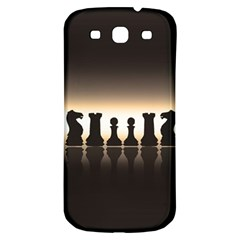 Chess Pieces Samsung Galaxy S3 S Iii Classic Hardshell Back Case by Valentinaart