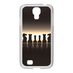 Chess Pieces Samsung Galaxy S4 I9500/ I9505 Case (white) by Valentinaart
