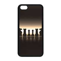 Chess Pieces Apple Iphone 5c Seamless Case (black) by Valentinaart