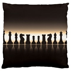 Chess Pieces Large Flano Cushion Case (two Sides) by Valentinaart