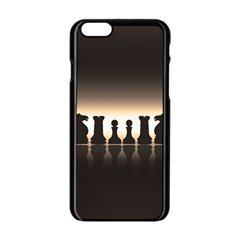 Chess Pieces Apple Iphone 6/6s Black Enamel Case by Valentinaart