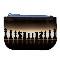 Chess Pieces Large Coin Purse by Valentinaart
