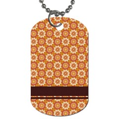 Floral Seamless Pattern Vector Dog Tag (one Side)