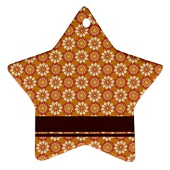 Floral Seamless Pattern Vector Star Ornament (two Sides)