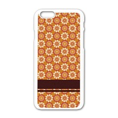 Floral Seamless Pattern Vector Apple Iphone 6/6s White Enamel Case
