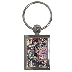 Graffiti Wall Pattern Background Key Chains (rectangle)