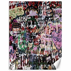 Graffiti Wall Pattern Background Canvas 12  X 16
