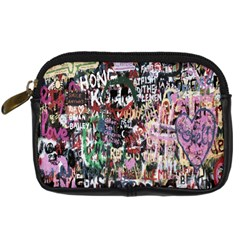 Graffiti Wall Pattern Background Digital Camera Cases by Nexatart