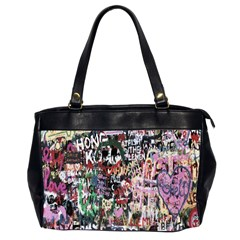 Graffiti Wall Pattern Background Office Handbags (2 Sides)