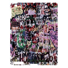 Graffiti Wall Pattern Background Apple Ipad 3/4 Hardshell Case by Nexatart