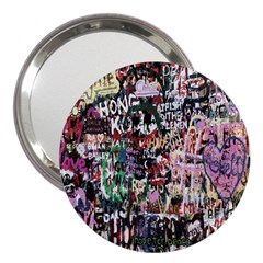 Graffiti Wall Pattern Background 3  Handbag Mirrors by Nexatart