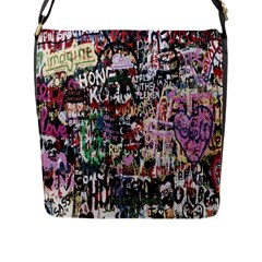 Graffiti Wall Pattern Background Flap Messenger Bag (l)