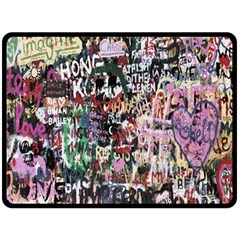 Graffiti Wall Pattern Background Double Sided Fleece Blanket (large)  by Nexatart