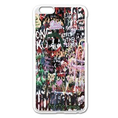 Graffiti Wall Pattern Background Apple Iphone 6 Plus/6s Plus Enamel White Case