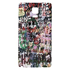 Graffiti Wall Pattern Background Galaxy Note 4 Back Case by Nexatart