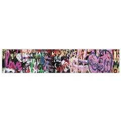 Graffiti Wall Pattern Background Flano Scarf (small)
