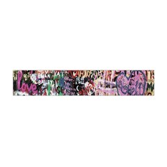 Graffiti Wall Pattern Background Flano Scarf (mini) by Nexatart