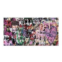 Graffiti Wall Pattern Background Satin Wrap