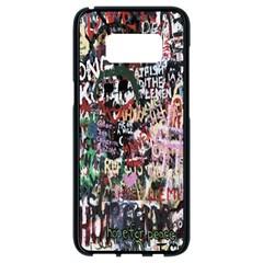 Graffiti Wall Pattern Background Samsung Galaxy S8 Black Seamless Case